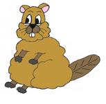 personnages de la bande dessinée monsieur le castor