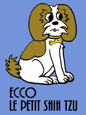 Les aventures de Ecco le petit shih tzu Logo